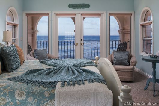 5 Bedroom Oceanfront Mediterranean Beach House Pacific Grove, CA